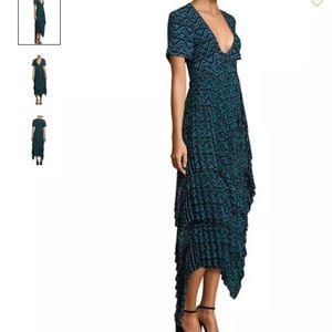 A.L.C. Silk layers accordion pleat dress maxi 12